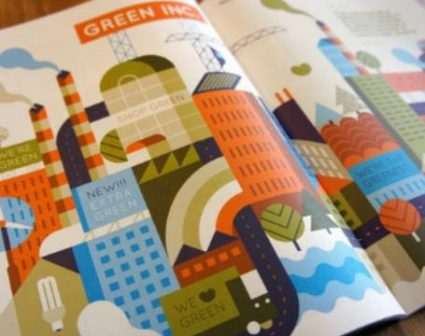 扁平化旅游杂志设计