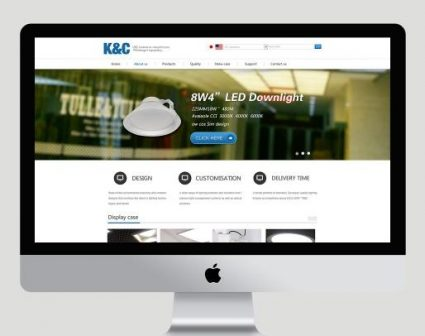 K&C智能灯网页设计