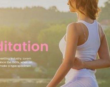 YOGA ZONE瑜伽品牌网页设计
