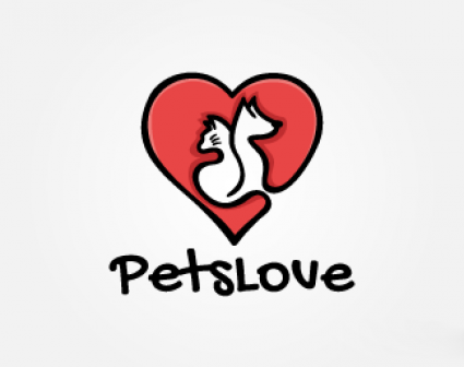 Pets Love爱宠物logo设计