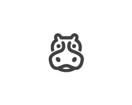 河马图形logo设计