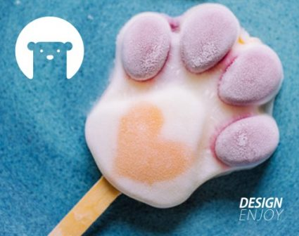 小白熊冰淇淋餐厅标志设计