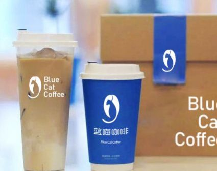 Blue Cat Coffee蓝喵咖啡LOGO设计