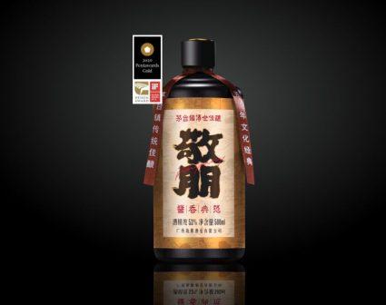 敬朋茅台酒标包装设计