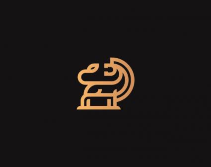 狮子图形LOGO设计