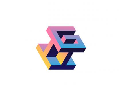 渐变矩形logo设计